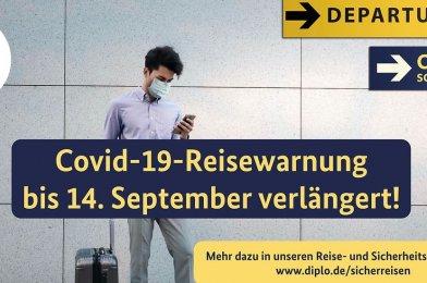 Reisewarnung für Staaten außerhalb der EU/Schengen-Gebiet